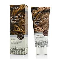 Пенка для умывания с экстрактом коричневого риса 3W Clinic Brown Rice Foam Cleansing 100 мл