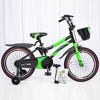 """Детский велосипед 18""""HAMMER"""" S500 Черно-Зеленый"""