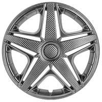 Колпаки на колеса R15 серебро + карбон, Star NHL (3348) - комплект (4 шт.)