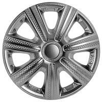 Колпаки на колеса R15 серебро + карбон, Star DTM (3326) - комплект (4 шт.)