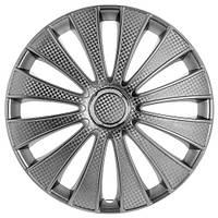 Колпаки на колеса R15 серебро + карбон, Star GMK (3772) - комплект (4 шт.)
