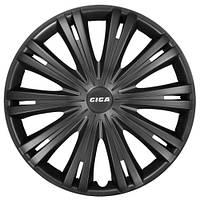 Колпаки на колеса R15 черные, Star Giga Black (3122) - комплект (4 шт.)