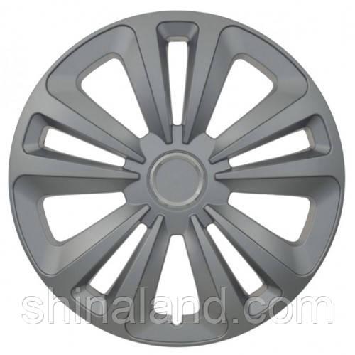 Колпаки на колеса R16 серебро + хром по центру, Jestic Terra Ring (102704) - комплект (4 шт.)