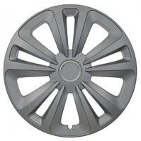 Колпаки на колеса R16 серебро + хром по центру, Jestic Terra Ring (102704) - комплект (4 шт.), фото 1