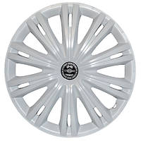 Колпаки на колеса R15 белые, Star Giga White (3121) - комплект (4 шт.)