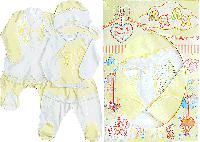 """Набор для новорождённых """"Бантики"""" в подарочной коробке, желтый 56, 62"""