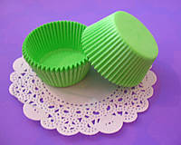 Бумажные формы (Тарталетки) для кексов, капкейков Салатовые