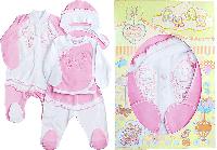 """Набор для новорождённых """"Бантики"""" в подарочной коробке, розовый 56, 62"""