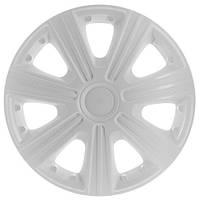 Колпаки на колеса R15 белые + карбон, Star DTM White (3359) - комплект (4 шт.)