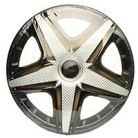 Колпаки на колеса R15 черные + карбон, Star NHL Super Black (3350) - комплект (4 шт.)