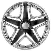 Колпаки на колеса R15 серебро, Star NHL Super Silver (3349) - комплект (4 шт.)