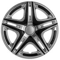 Колпаки на колеса R16 серебро + карбон, Star Dacar Super Silver (2812) - комплект (4 шт.)