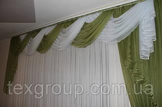 Ламбрекен со шторой шифоновый 3-3,5м №149, фото 2