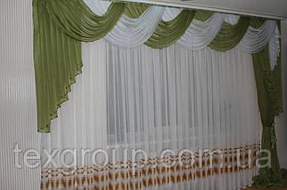 Ламбрекен со шторой шифоновый 3-3,5м №149, фото 3