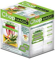 Быстрая нарезка продуктов с chop magic! 2 режущие сетки 11/5 мм, ёмкость 2 л, пластиковая крышка