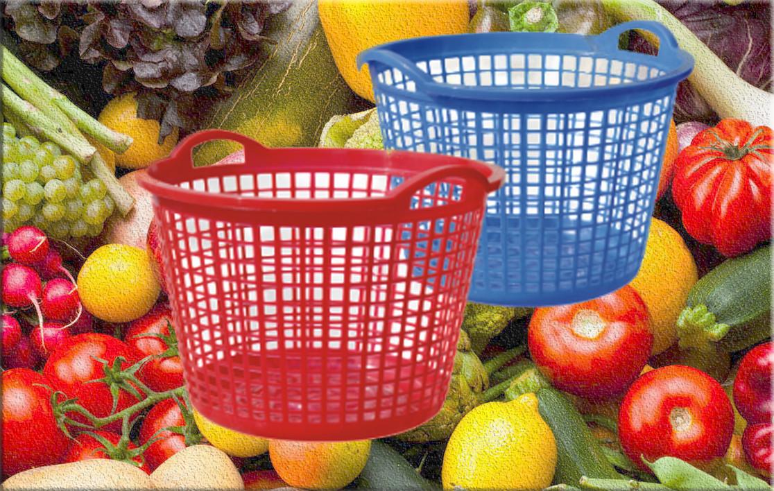 Корзина для збору урожаю пластикова,  Од