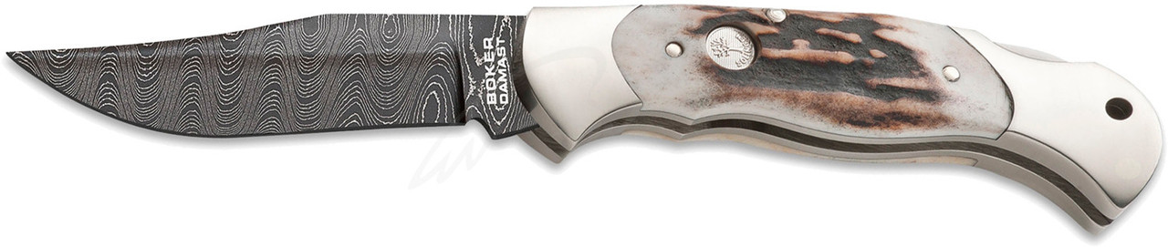 Нож Boker Scout Hirschhorn Damast