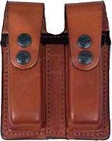 Подсумок Front Line FL 2104 для двух пистолетных магазинов. Материал - кожа. Цвет - коричневый