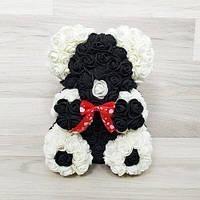 Подарочная игрушка мишка-панда из роз