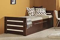"""Ліжко двохспальне """"Мілка"""" Бук , Ортопедичні ламелії , з контейнером для білизни !"""