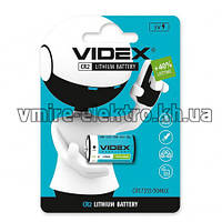Батарейка CR2 (1CR2, DLCR2) 3V Videx lithium 1 шт
