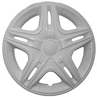 Колпаки на колеса R16 белые + карбон, Star Dacar White (2810) - комплект (4 шт.)