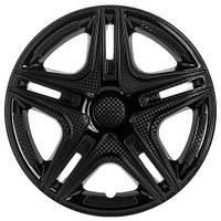 Колпаки на колеса R16 черные + карбон, Star Dacar Black (2809) - комплект (4 шт.)