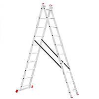 Лестница алюминиевая  2х секционная 4,80 м (LT-0210)