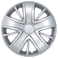 Колпаки на колеса R15 серебро, SJS (341) - комплект (4 шт.)