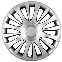 Колпаки на колеса R15 серебро, SJS (329) - комплект (4 шт.)