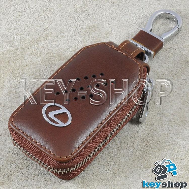 34d12d259dad9 Ключница карманная (кожаная, коричневая, с карабином, на молнии, с кольцом)