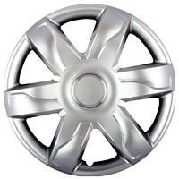 Колпаки на колеса R15 серебро, SJS Dacia Original (318d) - комплект (4 шт.)