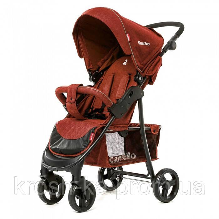 Детская прогулочная коляска Quattro Carrello Китай бордовая CRL-8502