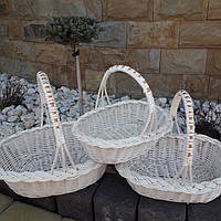 """Плетеный набор из белой лозы """"Вилка 3"""", фото 1"""