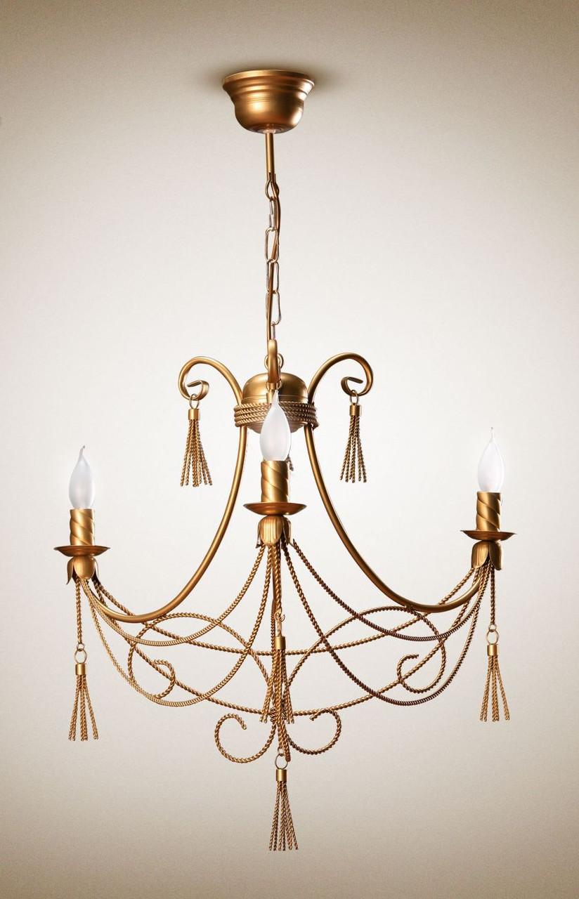 Люстра классическая со свечами для небольшой комнаты, спальни 1303