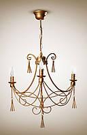 Люстра классическая со свечами для небольшой комнаты, спальни