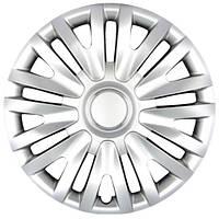 Колпаки на колеса R15 серебро, SJS (313) - комплект (4 шт.)