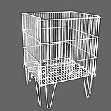 Контейнер (корзина) торговый сетчатый (усиленный) для распродаж (регулируемое дно), фото 2