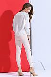 Красивые женские стрейчевые джинсы с жемчугом, фото 3