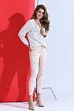 Красивые женские стрейчевые джинсы с жемчугом, фото 4