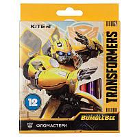 Фломастеры Kite Transformers BambleBee Movie TF19-047, 12 цветов
