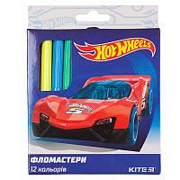 Фломастеры Kite Hot Wheels HW19-047, 12 цветов
