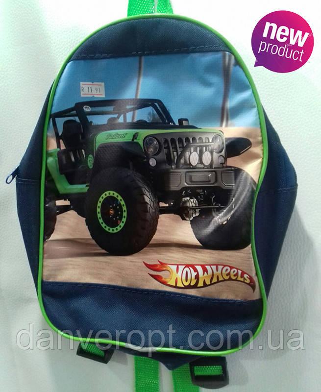 Рюкзак детский стильный HOT WHEELS для мальчика размер 27х20 купить оптом со склада 7км Одесса
