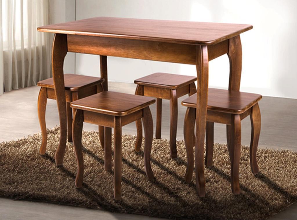 """Кухонний деревяний стіл """"Смарт"""" (темний горіх, коньяк, бук) 100*60см"""