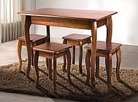 """Кухонний деревяний стіл """"Смарт"""" (темний горіх, коньяк, бук) 100*60см, фото 1"""