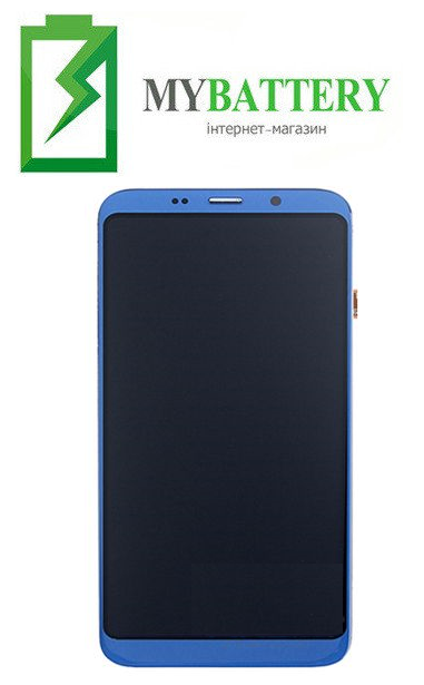 Дисплей (LCD) Bluboo S8 с сенсором синий