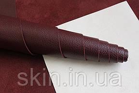 Натуральная кожа для кожгалантереи и обуви бордового цвета, толщина 1.5 мм, арт. СК 2233, фото 2