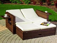 Диван-ліжко з штучного ротангу, фото 1