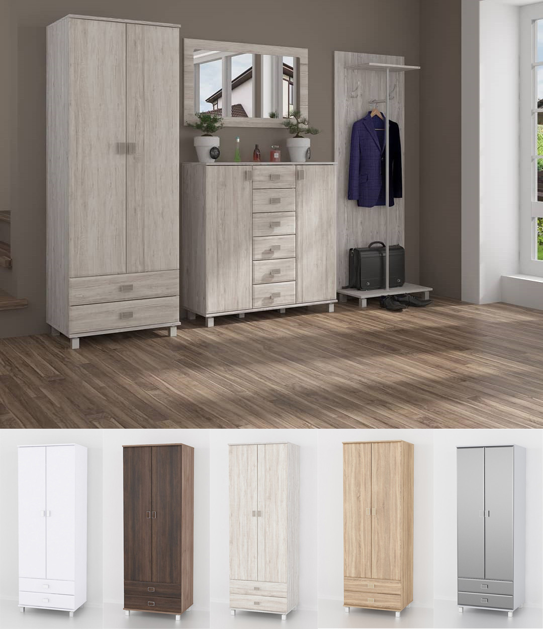 Шкаф для одежды, шкаф в гостинную, залу. Мебель из МДФ