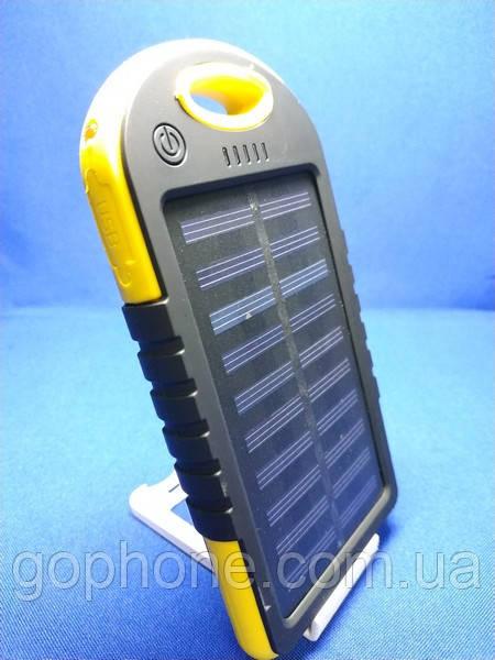 Power Bank Solar 10000mAh Yellow + Фонарик